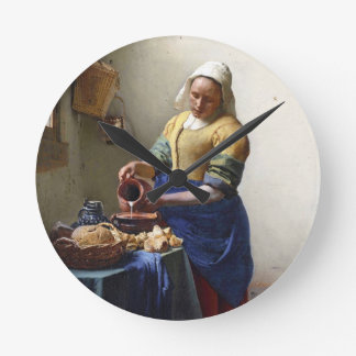 The Milkmaid c 1658-60 oil on canvas Wall Clock