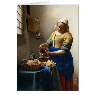 The Milkmaid, Jan Vermeer Card