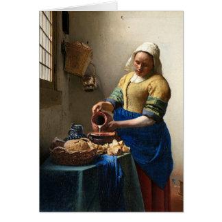 The Milkmaid, Jan Vermeer Greeting Card