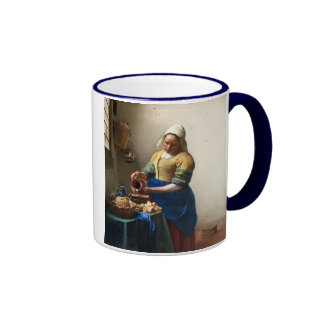 The Milkmaid, Jan Vermeer Ringer Mug
