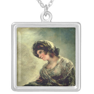 The Milkmaid of Bordeaux, c.1824 Silver Plated Necklace