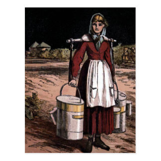 """The Milkmaid"" Vintage Illustration Postcard"
