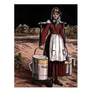 """""""The Milkmaid"""" Vintage Illustration Postcard"""