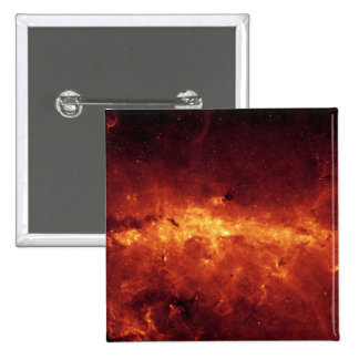 The Milky Way center aglow with dust 15 Cm Square Badge