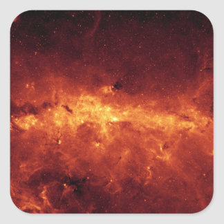 The Milky Way center aglow with dust Square Sticker