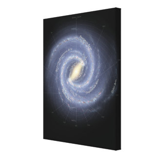 The Milky Way Galaxy (annotated) Canvas Print