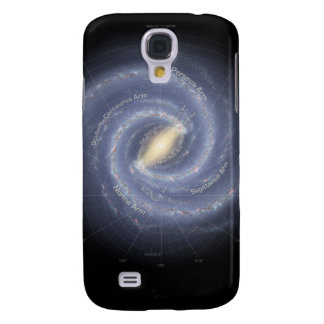 The Milky Way Galaxy (annotated) Galaxy S4 Case
