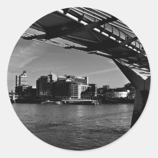 The Millenium Bridge Round Sticker