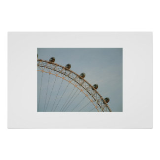 The Millenium Wheel at dusk Poster