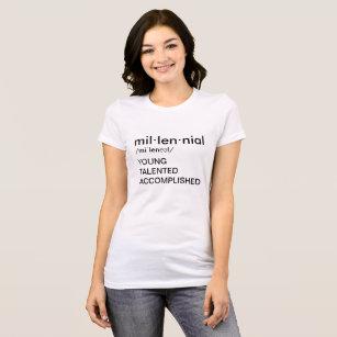 millennials t shirts shirt designs zazzle uk Generation Z Characteristics the millennial t shirt