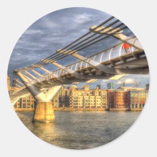 The Millennium Bridge London Round Sticker