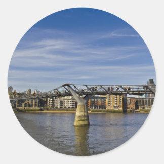The Millennium Bridge Round Sticker