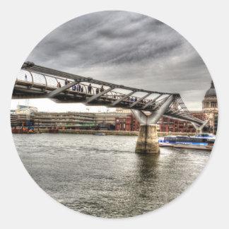 The Millennium Bridge Round Stickers