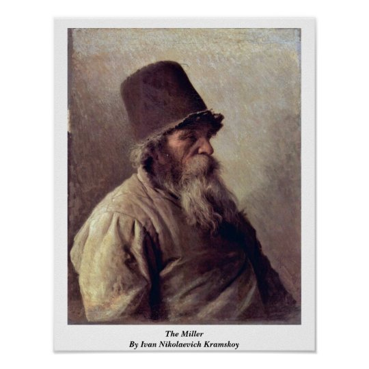 The Miller By Ivan Nikolaevich Kramskoy Poster