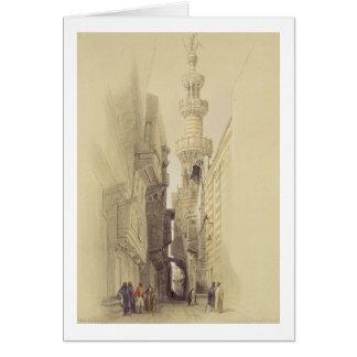 The Minaret of the Mosque of El Rhamree, Cairo, fr Card