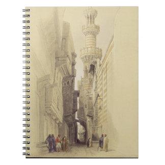 The Minaret of the Mosque of El Rhamree, Cairo, fr Notebooks