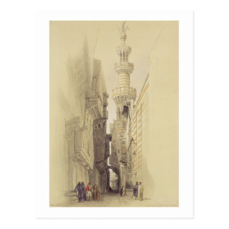 The Minaret of the Mosque of El Rhamree, Cairo, fr Postcard