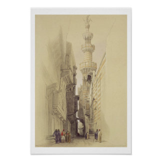 The Minaret of the Mosque of El Rhamree, Cairo, fr Poster