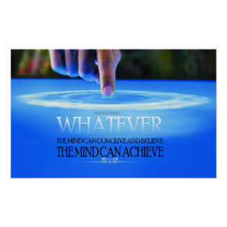 The Mind Can Conceive Motivational Poster