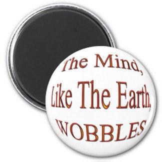 The Mind Wobblesredbulge 6 Cm Round Magnet