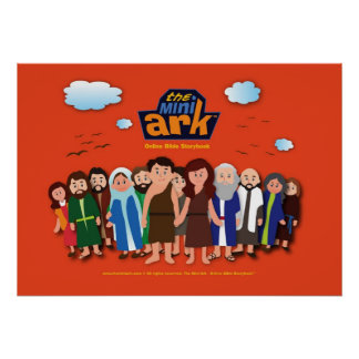 The Mini Ark Characters Standing Poster