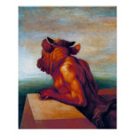 The Minotaur by George Frederick Watts Poster