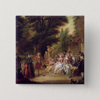The Minuet under the Oak Tree, 1787 15 Cm Square Badge