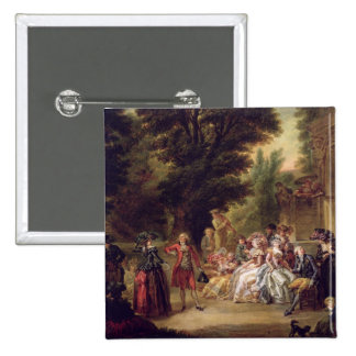 The Minuet under the Oak Tree, 1787 15 Cm Square Badge