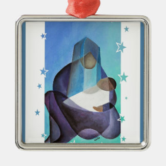 The Miracle Of Christmas Silver-Colored Square Decoration