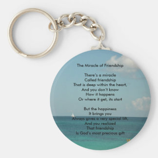 The Miracle of Friendship Basic Round Button Key Ring