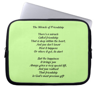 The Miracle of Friendship Lap Top Sleeve