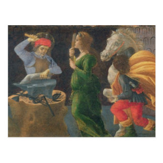 The Miracle of St. Eligius, predella panel from th Postcard