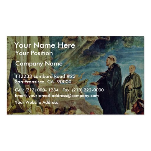 The Miracle Of St. Francis Xavier By Rubens Peter Business Card Template