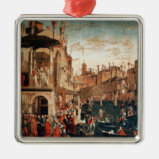 The Miracle of the Relic of the True Cross Christmas Ornament