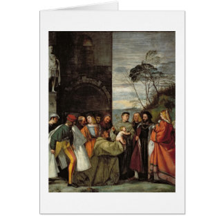 The Miracle of the Speech of the Newborn Child, 15 Greeting Card