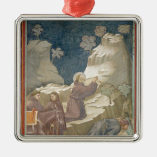 The Miracle of the Spring, 1297-99 Silver-Colored Square Decoration