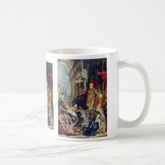 The Miracles Of St. Ignatius Of Loyola By Rubens Basic White Mug