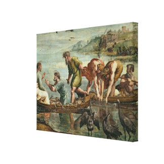 The Miraculous Draught of Fishes (cartoon for the Canvas Print
