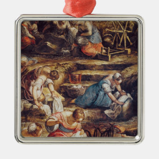 The Miraculous Fall of Manna Christmas Ornament