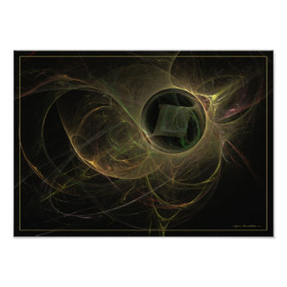 The missing cube - fractal art print