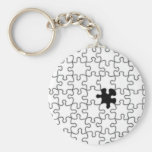 The Missing Puzzle Piece Background Template Keychain