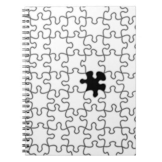 The Missing Puzzle Piece Pattern Notebook