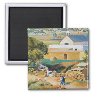 The Mission Church by Kenneth Miller Adams Square Magnet