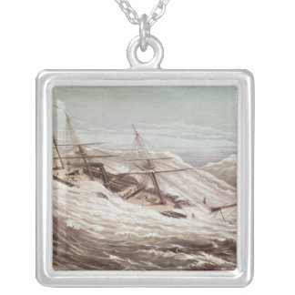 The Mississippi Steam Frigate in a Typhoon Silver Plated Necklace