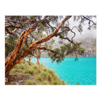 The mist and the lake, Huaraz, Peru Postcard