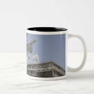 The mobile launcher platform is being moved Two-Tone coffee mug