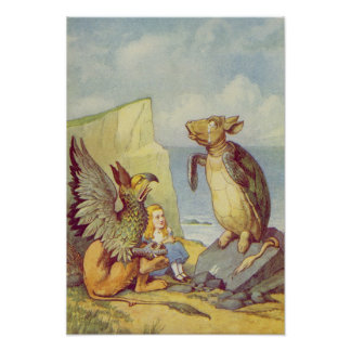 The Mock Turtle and the Gryphon Poster