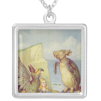 The Mock Turtle and the Gryphon Silver Plated Necklace