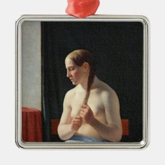 The Model, 1839 Silver-Colored Square Decoration