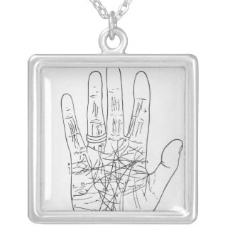 The Model Hand Silver Plated Necklace